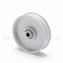 POULIE TENDEUR A GORGE PLATE en acier Øint 9,5 mm - Øext 81 mm - Larg 22 mm Ad. MTD
