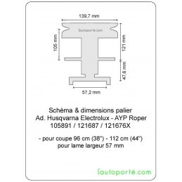 "PALIER avec poulie Ø 140 ""avec retour"" Ad. Husqvarna - Bernard Loisirs - Jonsered - AYP Roper 105891"