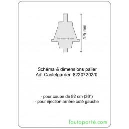PALIER GAUCHE Ad. CASTELGARDEN 82207202/0