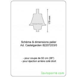 PALIER DROIT Ad. CASTELGARDEN 82207203/0