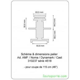 PALIER avec poulie Ø 63,5 Ad. CAST - DYNAMARK - AMF - NOMA 310237