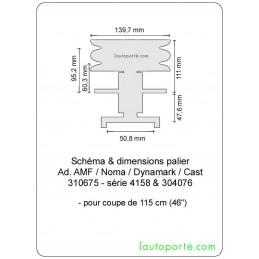 PALIER avec poulie double Ø 140 Ad. CAST - DYNAMARK - AMF - NOMA 310675