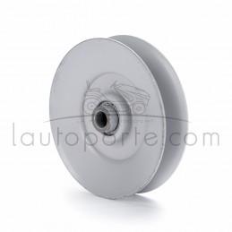 """Poulie de guidage gorge en """"V"""" en acier Øint 9,5 mm - Øext 89 mm - Larg 20 mm  et 22 mm avec épaulement"""