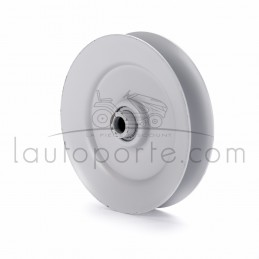 """Poulie de guidage gorge en """"V"""" en acier Øint 9,5 mm - Øext 100 mm - Larg 18 mm et 22 mm avec épaulement Ad. Noma"""
