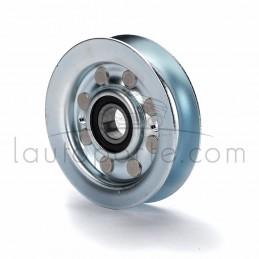 """Poulie de guidage gorge en """"V"""" en acier Øint 15,85 mm - Øext 88 mm - Larg 20 mm Ad. Castelgarden"""