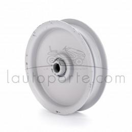 Poulie tendeur à gorge plate en acier Øint 9,5 mm - Øext 95 mm - Larg 22 mm Ad. Husqvarna - Bernard Loisirs - AYP - MTD