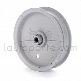 Poulie tendeur à gorge plate en acier Øint 9,5 mm - Øext 114 mm - Larg 28 mm