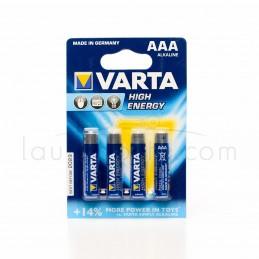 Pile alcaline VARTA 1,5 V - Type AAA - Vendues par 4