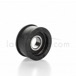 Poulie galet tendeur gorge plate en résine Øint 17 mm - Øext 51 mm - Larg 25 mm avec rebords