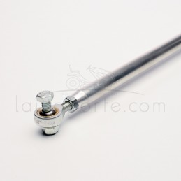 BARRE DE DIRECTION en aluminium Ø 16 - entraxe 53 à 56 mm équipée de 2 rotules Ø 8 mm mâle