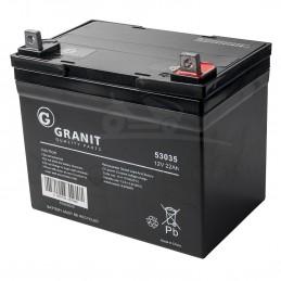 BATTERIE GEL NH1222R - borne + à droite - 12 volts - 22 ampères