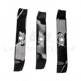 PACK 3 LAMES SOUFFLANTES & MULCHING 6* 38 & 41 cm MTD