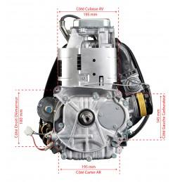 Moteur 17.5 cv Intek OHV 500 cc Briggs & Stratton