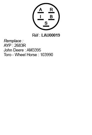 correspondances contacteur à clé LAU00019