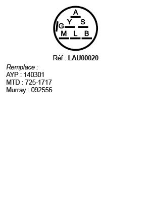 correspondances contacteur à clé LAU00020