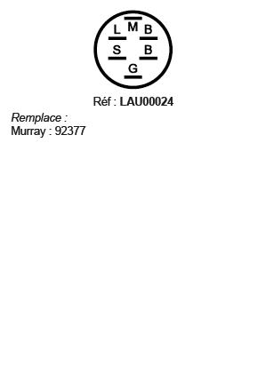 correspondances contacteur à clé LAU00024