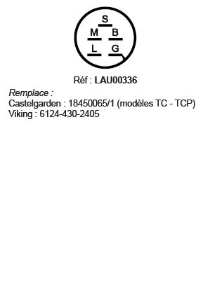 correspondances contacteur à clé LAU00336