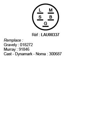 correspondances contacteur à clé LAU00337