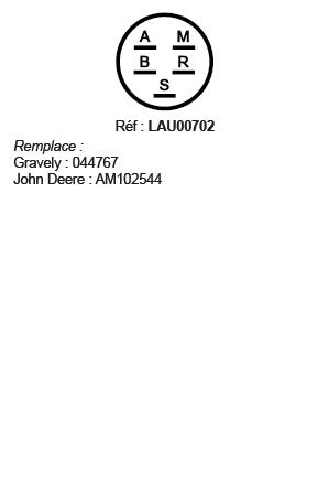 correspondances contacteur à clé LAU00702